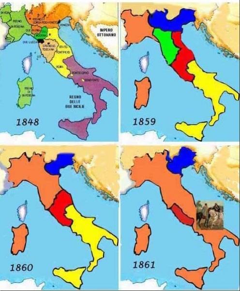 Cartina Politica Italia 1860.Unita Liberta Nazione Italiana Popolo Italiano Da Manzoni E De Amicis Alla Resistenza Passando Per Il Risorgimento